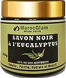 Savon Noir Eucalyptus 250g, Gommage 100% naturel,Savon Noir Marocain, Gommage au Savon Noir Hammam enrichi à l'huile essentielle d'Eucalyptus BY :MAROC GLAM