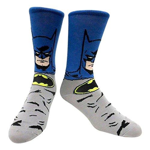 Batman Socken 43/46, blau/grau