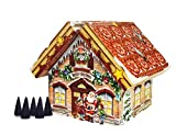 ROTH 1160 Räucherhäuschen Adventskalender, bunt, 18 x 18 cm