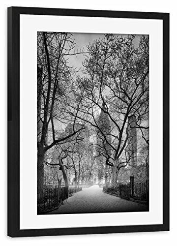artboxONE Poster mit Rahmen Schwarz 30x20 cm Madison Square Park von Rob Van Kessel - gerahmtes Poster -