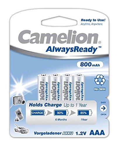 Camelion 17408403 Always Ready Premium NI-MH Akku HR03/ AAA/ 800mAh - 4er Pack