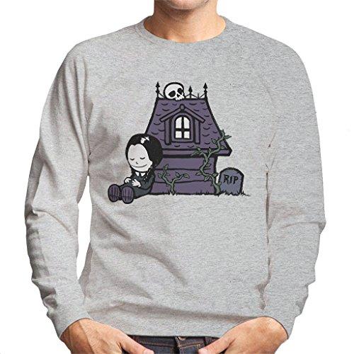 Cloud City 7 Strange Peanuts Wednesday Adams Family Men's Sweatshirt