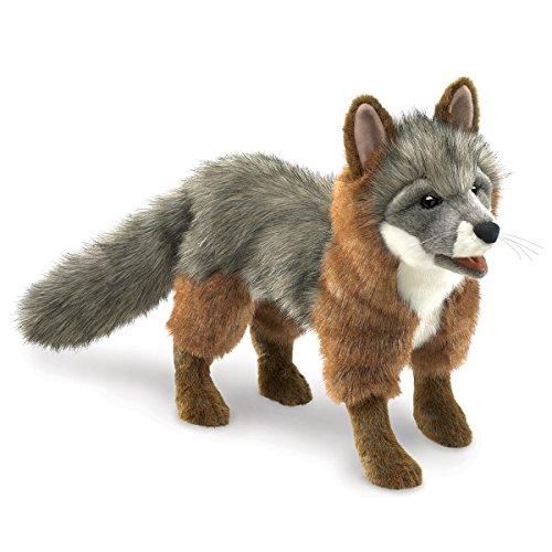 Folkmanis mano marioneta zorro gris