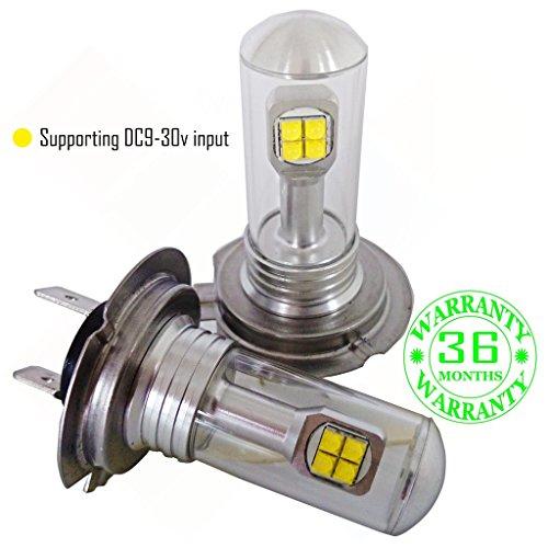Preisvergleich Produktbild Wiseshine H7 birne in led lampen abblendlicht mit zulassung canbus autolampe DC9-30v 3 Jahre Qualitätssicherung (Satz von 2) H7 8 led Hochleistungs gelb