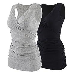 Damen Still Tops Stillen T-Shirt Top Umstandsmode Ohne B/ügel Unterw/äche ZUMIY Stillen Top Schwangerschafts