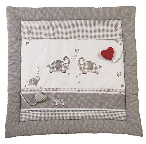 ldecke 'Jumbotwins', Baby's gepolsterte Spielunterlage / Laufgittereinlage 100x100cm, 100% Baumwolle, inkl. Baby-Spielzeug ()