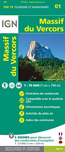 Top75001 Massif du Vercors 1/75.000 par Ign