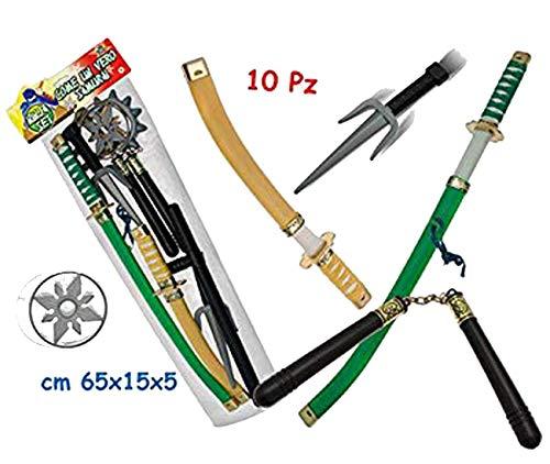 Teorema Giochi VD63141 Set Ninja Piccolo Samurai 10 Pezzi Multicolore