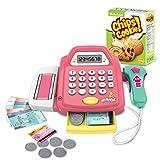 Touchmark Kinder Spiel Kasse, Supermarkt Registrierkasse mit kaufladen zubehör Size 22.5 * 13.5 * 10.5 cm (Rosa)
