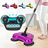 #7: Nevil Automatic Hand Push Sweeper 360-Degree Built-In Rotating Brushes Automatic Sweeping, Dustpan And Trash Bin 3 In 1 Floor Cleaning System