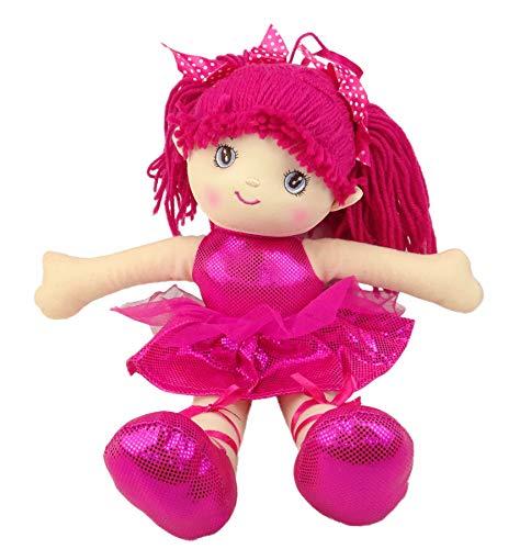 Toyland 40cm Dunkelrosa Ballerina Soft Doll - Princess Dolls (Soft Ballerina Doll)