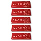 Decooo.be Lot de 5 Autocollants Alarm Dissuasif pour les voleurs - Ultra...