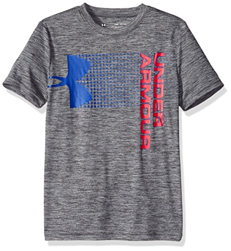 Under Armour Jungen Boys Crossfade Tee kurzärmelig, Graphite (042)/Red, Jugend Medium (Under Armour-jugend Jungen)