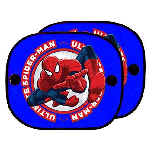 ABC Parts SPIDERMAN SPID101 Rideaux Pare-Soleil à Ventouses Latéraux, Bleu, Set de 2