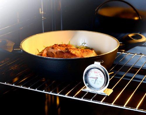 Rosenstein & Söhne 2in1 XL Braten- und Ofen-Thermometer für Gar- & Backofentemperatur - 3