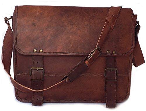 Vintage Couture 38,1cm handgefertigt echtes Leder Aktentasche Laptop Messenger Bag, - Couture Olive
