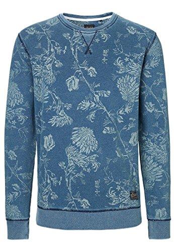 Solido uomini maglione sudore BRECK Mood Indigo blu S