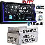 Mercedes A-Klasse W169 Audio 20 - Autoradio Radio JVC KW-R930BT - CD Bluetooth Android Apple MP3 USB - Einbauzubehör - Einbause
