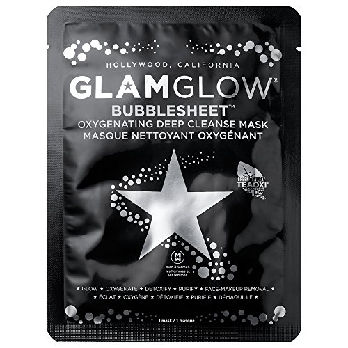 GlamGlow Bubblesheet Oxygenating Deep Cleanse Face Mask