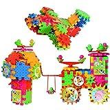 FLYDEER Elektrische Bausteine 81 Stücke Zahnräder Bausteine für Kinder Pädagogisches Spielzeug- Kreative Kinder Spielzeug Motorisierte Spinning Gears