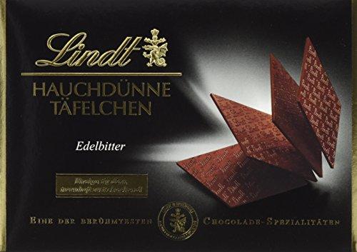 Lindt & Sprüngli Hauchdünne Täfelchen Edelbitter, 2er Pack (2 x 125 g) -