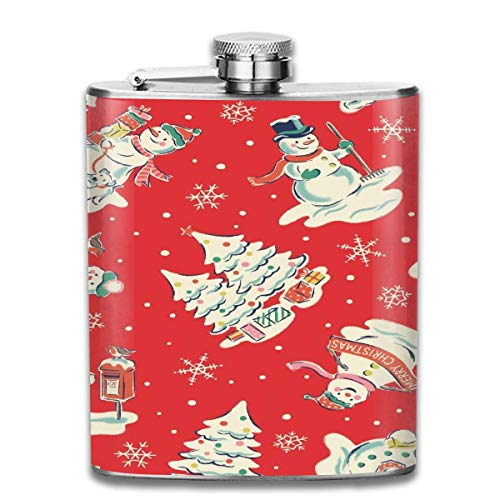 Custom Athletic Shirts (dfegyfr Men and Women Thick Stainless Steel Hip Flask 7 OZ Edvard Munch The Scream Athletic Pocket Container for Drinking Liquor Vodka)