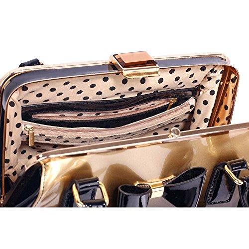 TrendStar Frauen neuer Designer-Handtaschen Damen Berühmtenart Kunstleder Taschen B - Gold