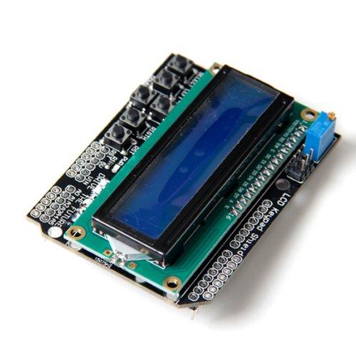 1602 LCD Board Keypad Shield Blue Backlight For Arduino Duemilanove Robot -