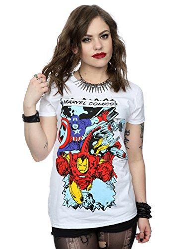 Marvel Damen Comic Characters T-Shirt Weiß