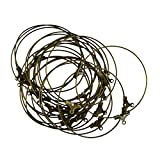 MagiDeal 20pcs Antiqued Brass Beading Hoop Earring Findings With Loop - 40mm Diameter - bronze, 40mm
