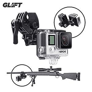 Sportif Support Clip de fixation pour pistolet/canne à pêche/nœud caméras embarquées GoPro Hero 3et 4(Noir)