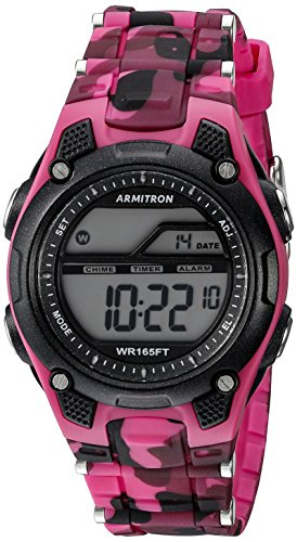 armitron-sport-womens-45-6984cpk-digital-chronograph-magenta-and-black-camouflage-resin-strap-watch
