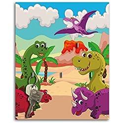 Llavero de pared con diseño de dinosaurio País Llave Board ganchos llavero sb433