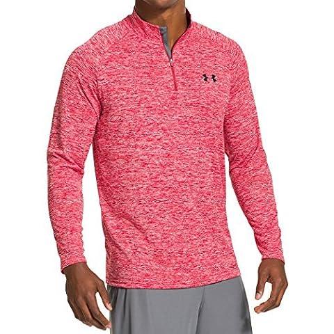 Under Armour Men's UA Tech 1/4 Zip Long-Sleeve Shirt, Red (Red), S, 1242220-600