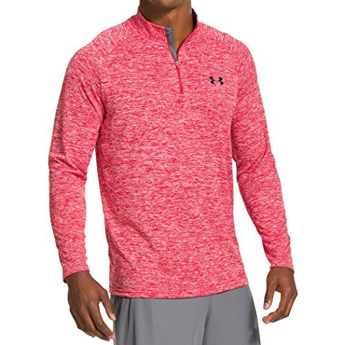 under-armour-herren-fitness-sweatshirt-ua-tech-1-4-zip-rot-red-l-1242220