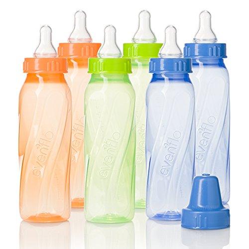 evenflo-feeding-classic-twist-tinted-bottles-green-blue-orange-8-ounce-pack-of-12