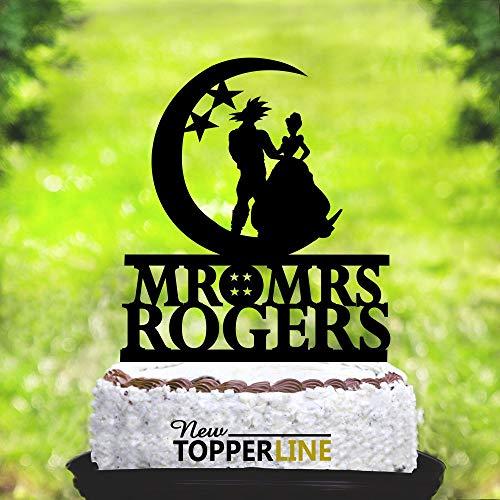 Andrea1Oliver Goku und Cinderella Cake TopperCinderella Cake TopperGoku Cake TopperBraut und Br?utigam Hochzeitstorte TopperWedding Cake Topper 2267