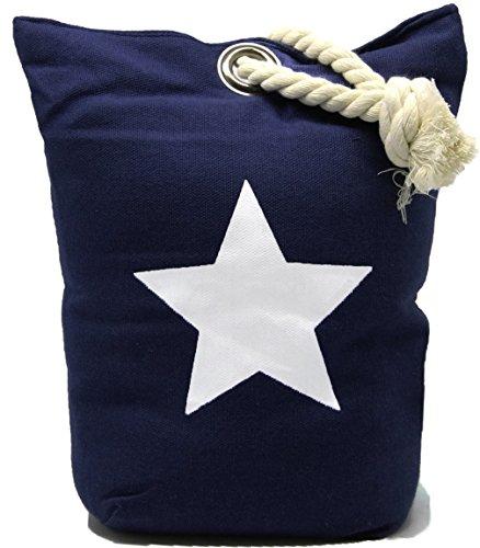 Bada Bing Türstopper Stern Seil Sack Stopper Türsack Türdämpfer Vintage (Marine Blau)