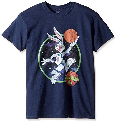 Warner Brothers Herren T-Shirt Bugs Dunk Space Jam - Blau - Groß