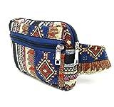Riñonera Hippie étnica Chica / Chico NOVEDAD Cuadradas Moda Objetos Personales Smart Phone (Morada Navajo)