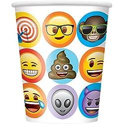 Unique Party 50916celebración Emoji vasos de papel, pack de 8