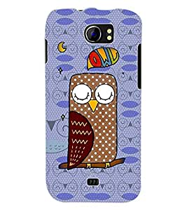 ColourCraft Owl Back Case Cover for MICROMAX CANVAS 2 A110