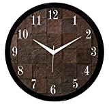 IT2M 11 Round Wooden Look Wall Clock Wit...
