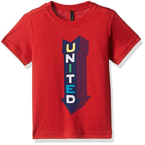 United Colors of Benetton Baby Boys' T-Shirt (17P3096C001ZI_Red_1Y)