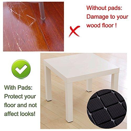 Cusfull 186 Stück Möbel Pads Gummi Möbelgleiter Anti Rutsch Selbstklebend Wasserdicht Bodenschutz Klebepads für alle Größen von Möbelfüßen -