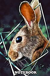 """Notebook: Illustration Of A Hare With A Touch Of Design , Journal for Writing, College Ruled Size 6"""" x 9"""", 110 Pages"""
