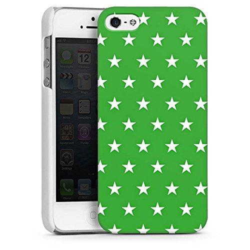 Apple iPhone 5 Housse Étui Protection Coque Étoiles Motif Motif CasDur blanc