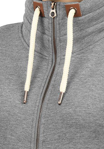 DESIRES VickyZipper - Sweat-Shirt - Femme Grey Melange (8236)
