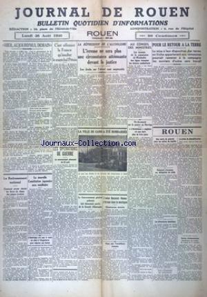 JOURNAL DE ROUEN du 26/08/1940