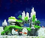 efanr Simulation Harz Baum Steingarten Stein Aquarium Landschaft Dekorationen Poly Fisch Tank Decor Ornaments Dekoration Fisch Garnelen Sucher Hippie Shelter House Unterwasser Verstecken Cave
